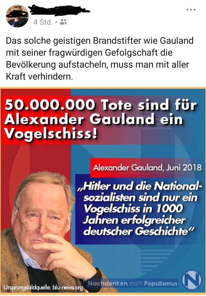 "Facebook-Auslese: ""Vogelschiss"""