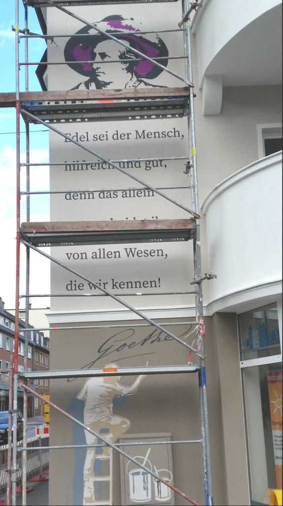 Stadtbildverschönerung an der Ecke Friedrichstrasse/Goethestrasse
