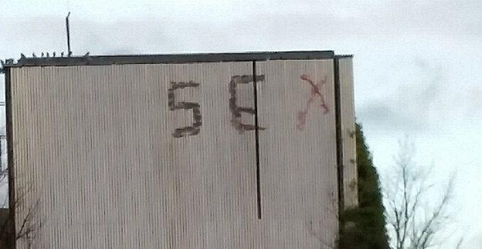 Graffiti am Bunker