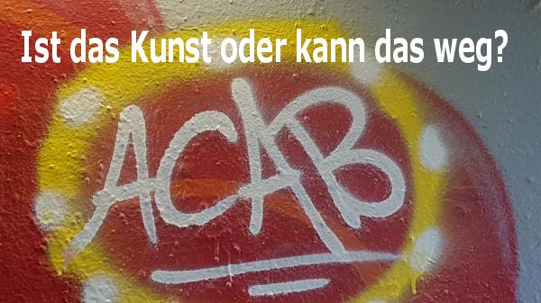 """Art 5 GG: Eine Zensur findet nicht statt Ein Kommentar von Ralf Michalowsky Was nun Herr Bürgermeister Roland, warum so inkonsequent? Wenn Sie schon für die CDU den willigen Zensor machen, dann aber auch richtig! Im Schürenkamptunnel und im Oberhoftunnel finden sich, Insidern zufolge, weitere 11 A.C.A.B.-Graffiti. Drei davon sind hier abgebildet. Zensieren Sie eigentlich nur auf Zuruf der CDU ausgewählte Graffiti? Wie groß muss die Angst davor sein, für die Niederlage der SPD bei der kommenden Kommunalwahl verantwortlich gemacht zu werden? Ziehen Sie doch den Stock wieder raus, den Sie offensichtlich verschluckt haben und lassen Sie zur Abwechselung mal die CDU darüber springen! Damit kein falscher Eindruck entsteht: Ich weiß nicht, warum man das Kürzel A.C.A.B., das ursprünglich für """"All cops are bastards"""" stand, so inflationär in Graffiti unterbringen muss. """"Alle Bullen sind Bastarde"""" oder sinngemäß """"Alle Bullen sind Schweine"""", läßt Rückschlüsse auf das Denken einiger Sprayer zu. Lockere Polizisten übersetzen A.C.A.B. schon längst mit """"All Cops Are Beautiful""""."""