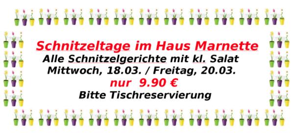 Schnitzeltage im Haus Marnette - Gladbeck-Ost