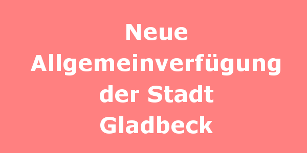 Neue Allgemeinverfügung der Stadt Gladbeck Die Stadt Gladbeck hat eine neue Allgemeinverfügung erlassen, die die Verfügung von 15.03.2020 ersetzt. In der neuen Verfügung sind alle Regelungen aufgelistet, die es jetzt einzuhalten gilt. In dem 7-seitigen Amtsblatt ist alles gelistet was noch geht und was untersagt ist. Bitte drucken Sie sich die Allgemeinverfügung aus und lesen sie aufmerksam. Wenn Sie Nachbarn mit Migrationshintergrund haben, die der deutschen Sprache nicht mächtig sind, versuchen Sie deutlich zu machen worum es geht. Einzelne Regelungen können Sie bestimmt mit Google-Translate übersetzen. Jetzt ist Solidarität geboten, zu Ihrem eigenen und zu unser aller Schutz.