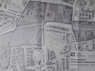 Gladbeck: von der Stadtverwaltung vorgeschlagenes Sanierungsgebiet an der B224 / A52
